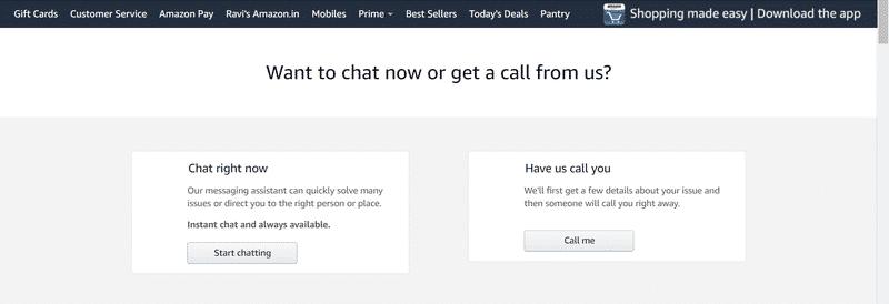 Amazon Customer Chat Support