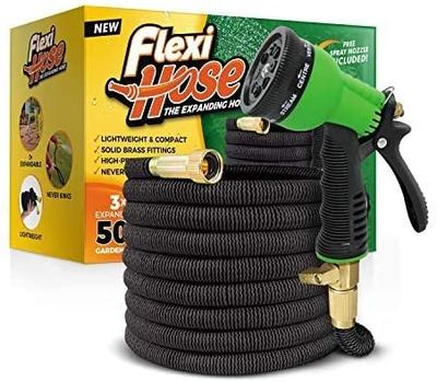 Flexi Solid Brass Fittings Expandable Garden Hose 50 ft.