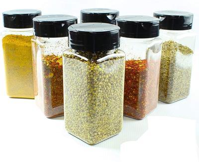 Ash & Roh® Salt & Pepper Glass Jar Spice Holder Dispensers