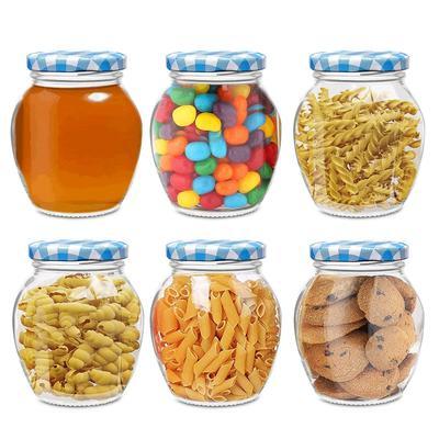 KWT Matka Glass Jar for Storage of Spices