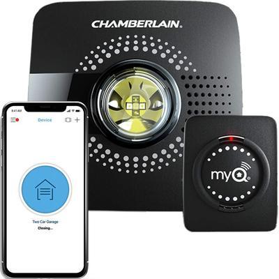 Chamberlain Hub Upgrade Your Existing Garage Door Opener with MyQ Smart Phone Control