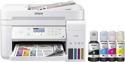 Epson EcoTank ET-3760 Wireless Color All-in-One Cartridge-Free Supertank Printer with Scanner, Copier and Ethernet